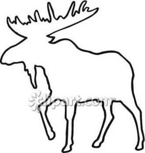 284x300 outline of moose royalty free clipart picture moose moose