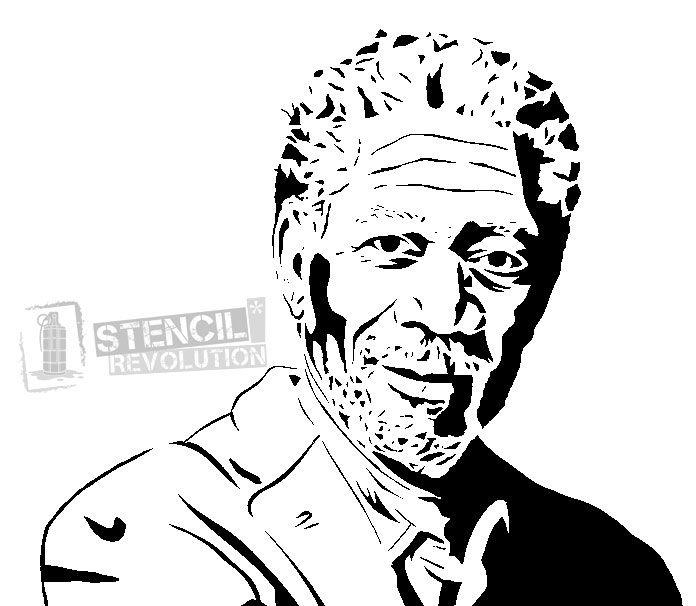 696x606 morgan freeman stencils stencil patterns stencils, stencil