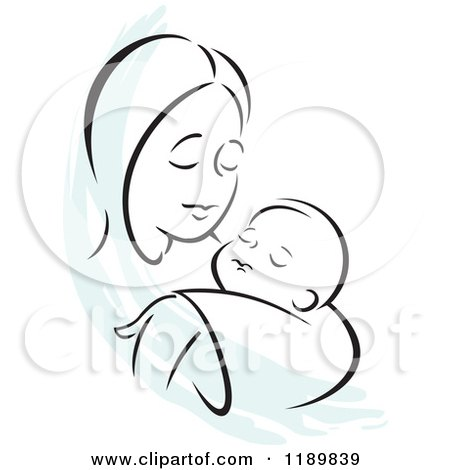 450x470 mother and baby clipart mother baby drawings mother and baby
