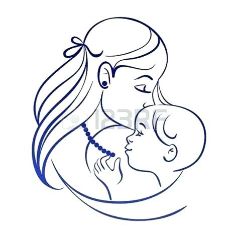 474x474 drawing of a mother mother and baby the blog drawing mother