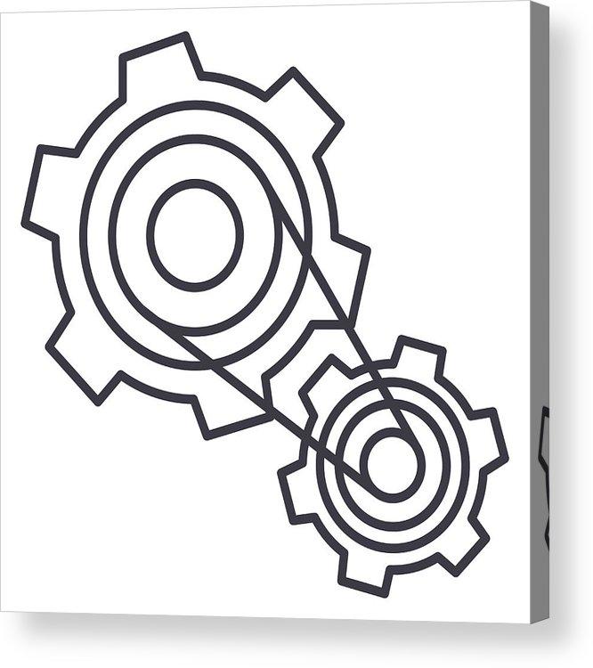 666x750 motor settings,engine vector line icon, sign, illustration