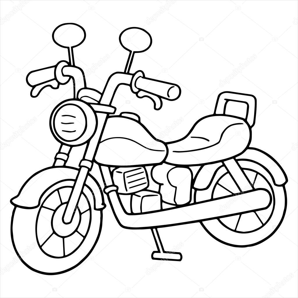 Motorbike Drawing Outline Free Download Best Motorbike Drawing