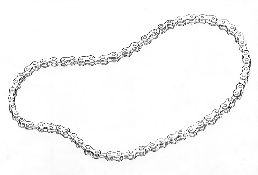 Motorcycle Chain Drawing