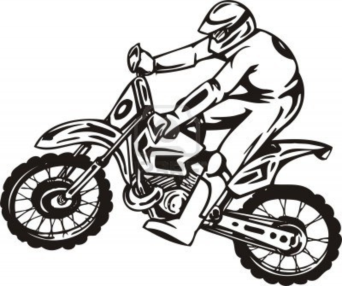 1200x1005 Coloring Pages Dirt Bikes Drawing Bike Colorings Best Racing