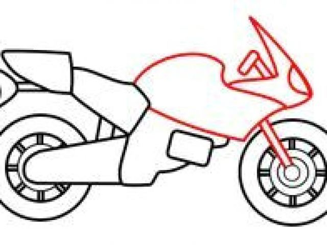 640x480 Drawing A Cartoon Motorcycle Drawing A Cartoon Motorcycle