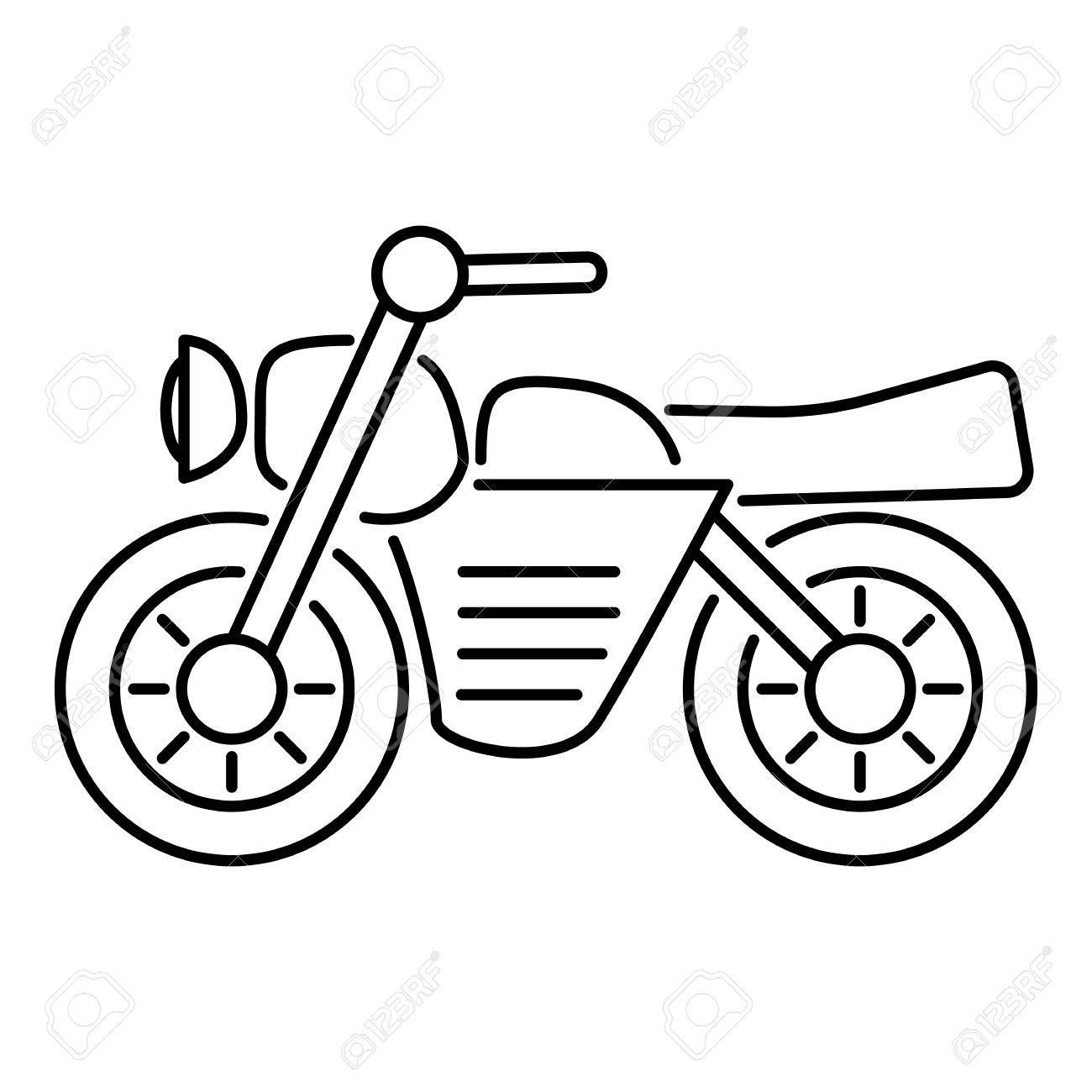 1300x1300 Huge Collection Of 'motorcycle Outline Drawing' Download More