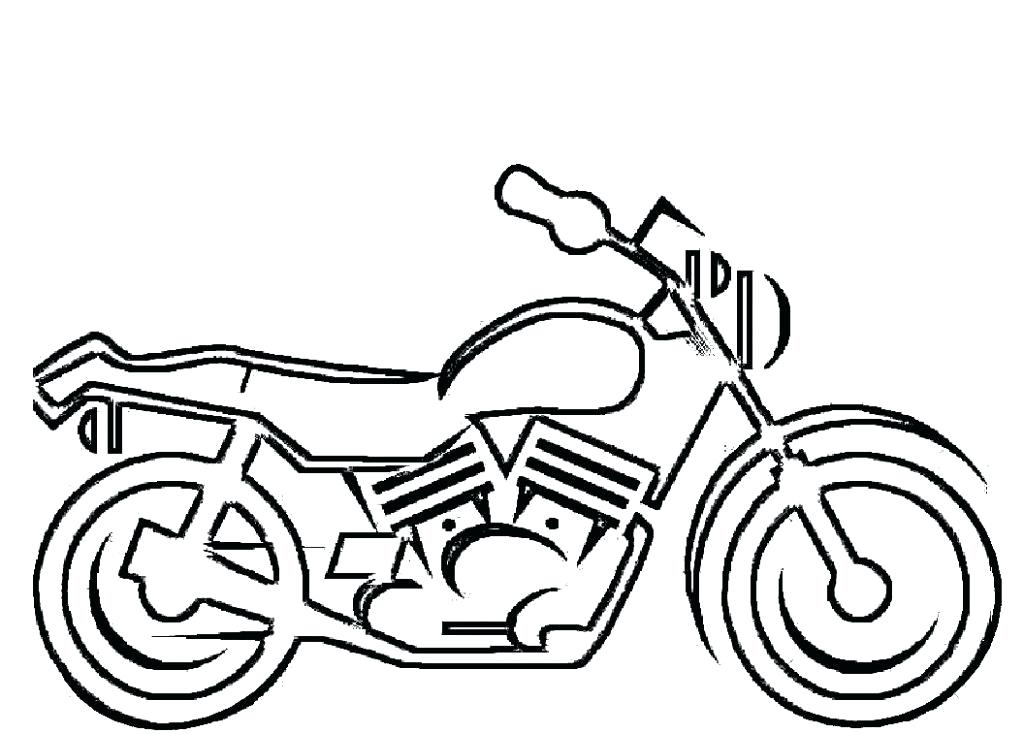 1024x734 How To Draw A Motorcycle For Kids Running