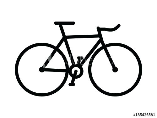 500x378 Bike Drawing Simple Simple Bicycle Silhouette Simple Vector
