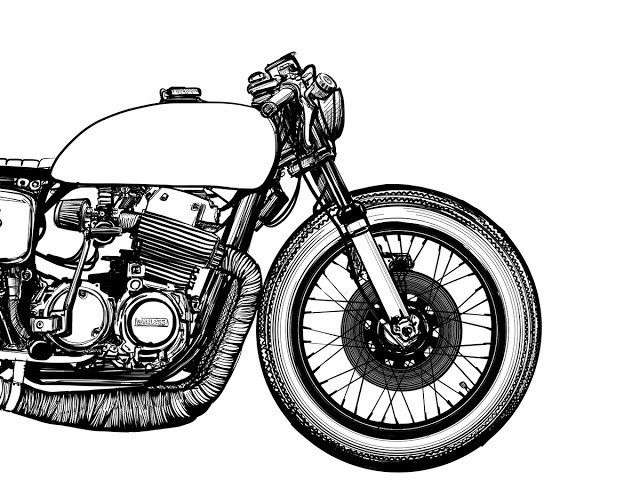 640x480 Collection Motorcycle Drawing Outline Pictures