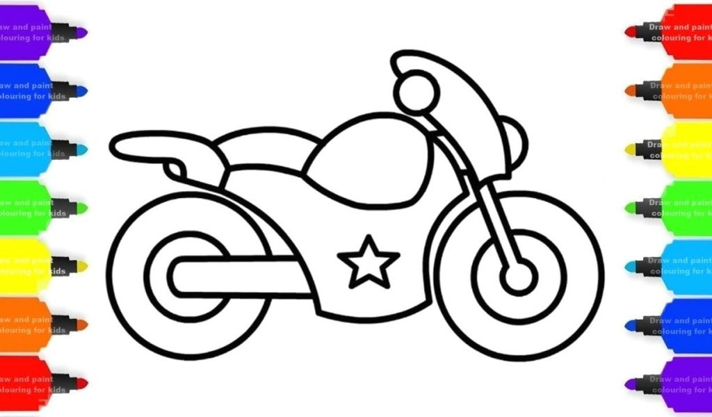 Motorcycle Drawing For Kids