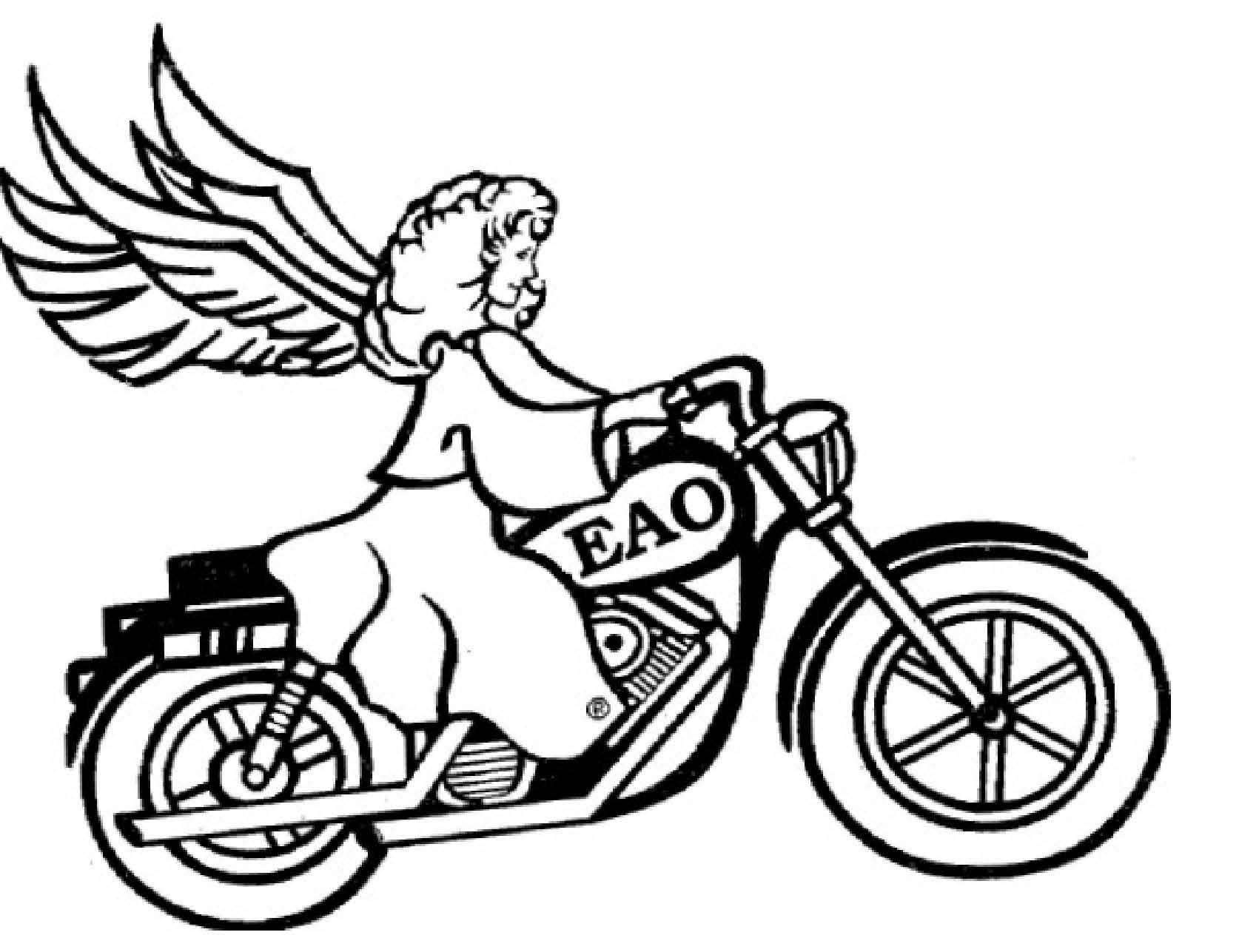 1701x1287 Motorcycle Drawing Angel For Free Download