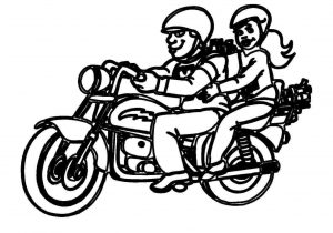 300x210 Easy Motorcycle Drawing For Kids