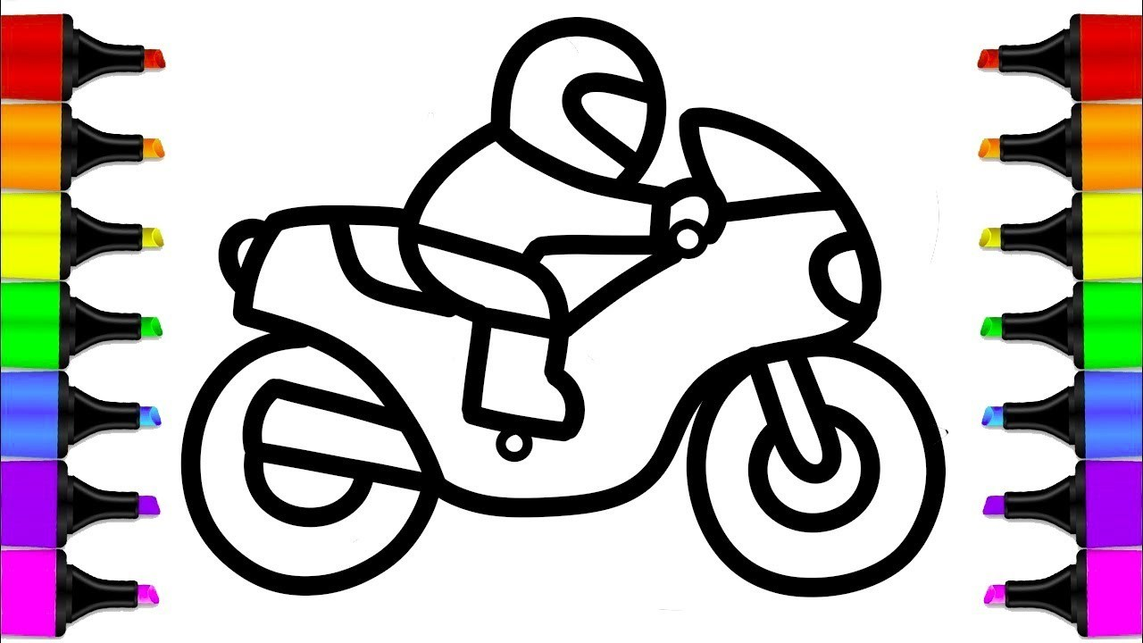 1280x720 Easy Motorcycle Drawing Step