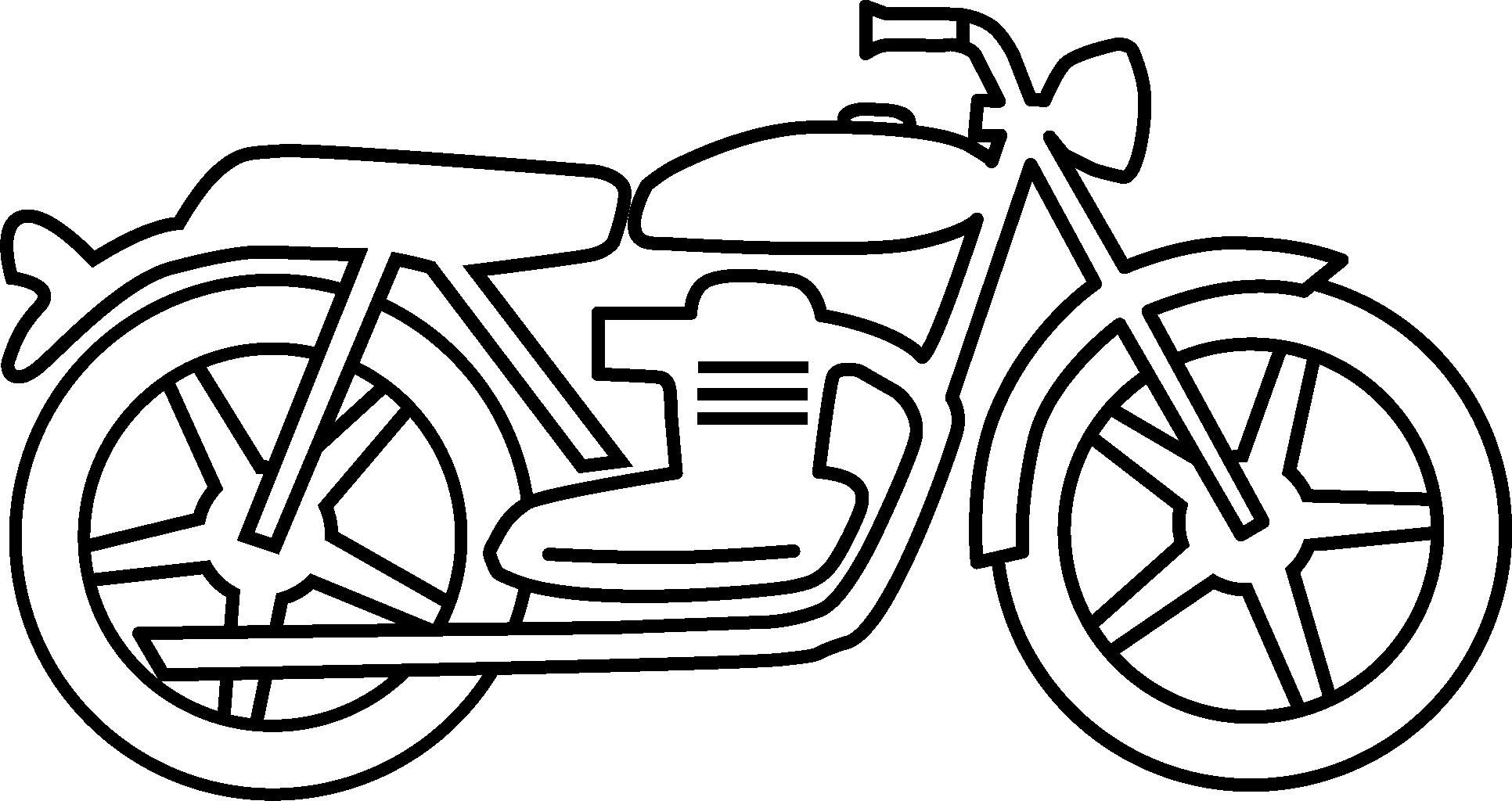 1932x1024 Motorcycle Drawings Clipart