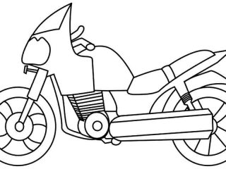 320x240 Motorcycle Drawing For Kids Motorcycle Line Drawing