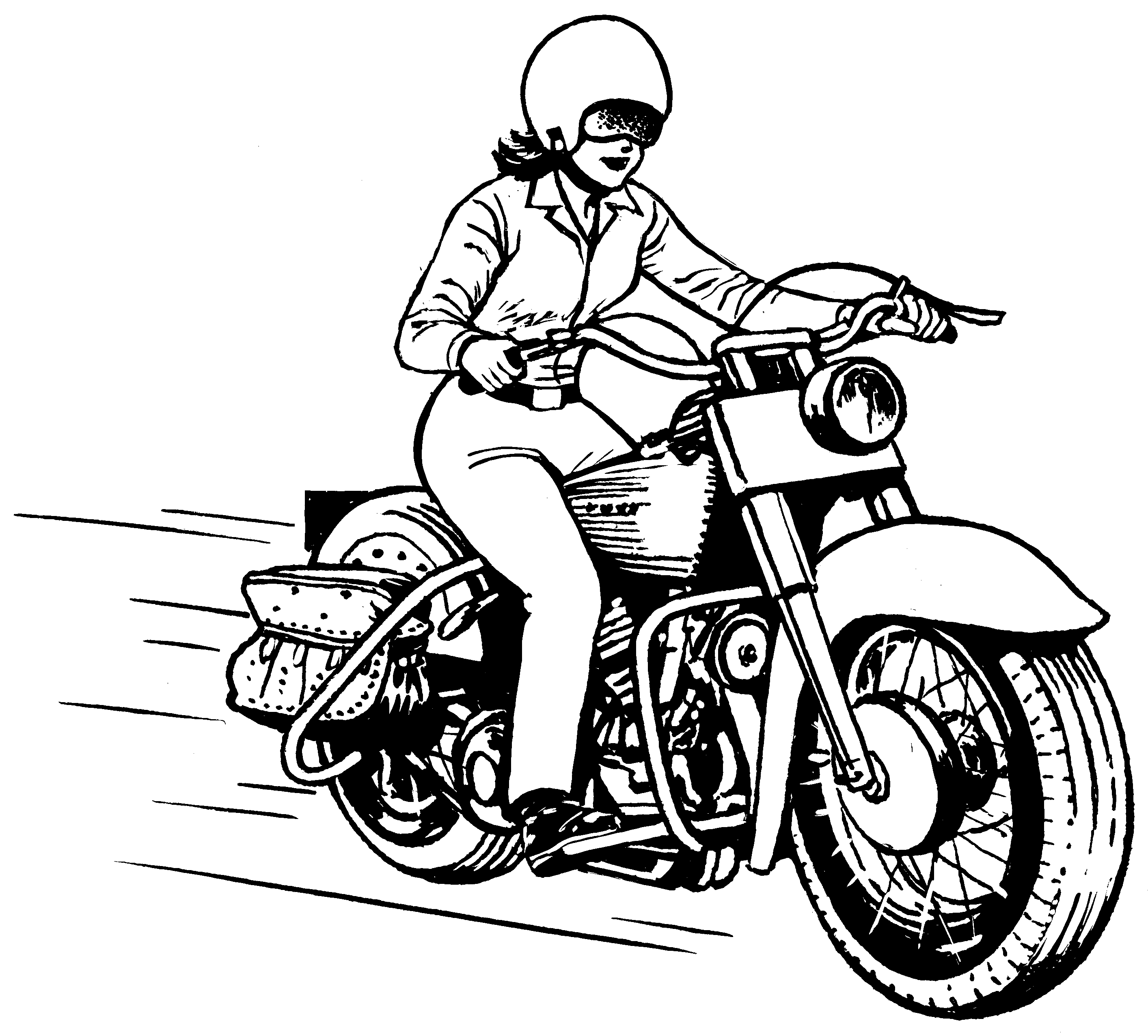 2828x2554 Motorcycle Drawing Png Png Image