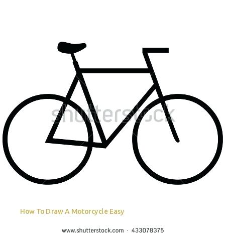 450x470 Simple Motorcycle Drawing How To Draw A Motorcycle Easy Bike