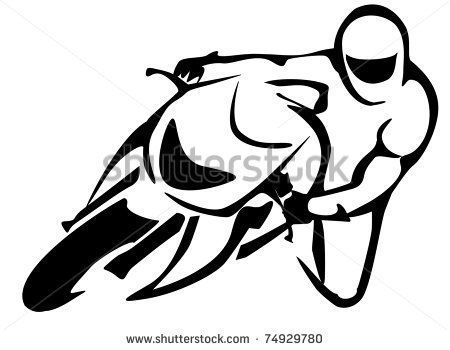 450x350 Motorcycle Drawings Clip Art