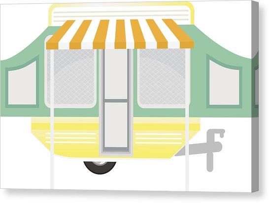 546x414 happy and cute retro motorhome trailer scene drawing