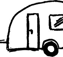 220x200 motorhome camper drawing stickers redbubble