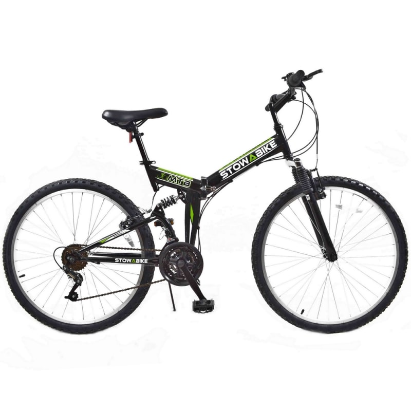 800x800 Stowabike Folding Mtb Mountain Bike Black Green
