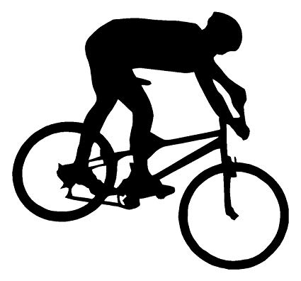 425x396 Sassy Stickers Mountain Bike Biker White Decal Bicycle