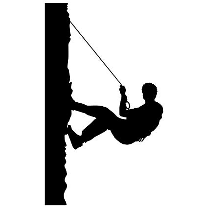 425x425 Collection Of 'mountain Climbing Silhouette' Download More Than
