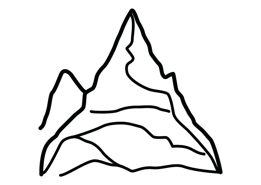 875x620 Mountain Climber Coloring Pages Colouring Climbing Black And White