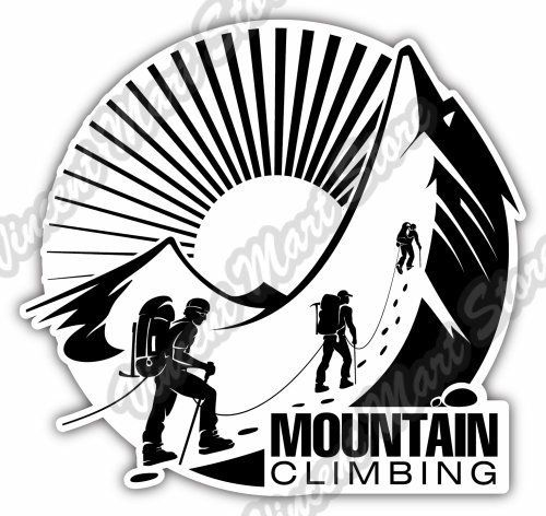 500x472 Mountain Climbing Camping Outdoor Travel Car Bumper Vinyl Sticker