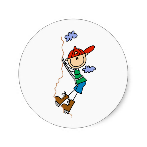 500x500 Stick Figure Mountain Climbing Stickers Stick