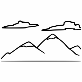 320x320 hd mountain black and white mountain range clip art black