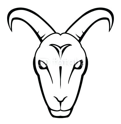 390x400 goat face drawing unicorn goat a face sketch cartoon goat face
