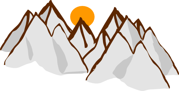 600x306 download hd mountain range drawing mountain range sunset hi png