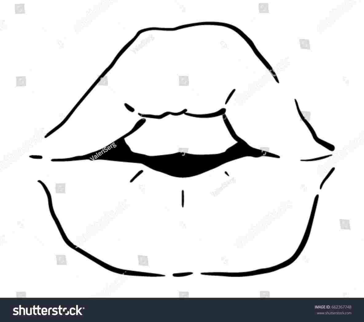 1185x1048 Drawing To Draw Mouths Wikihowrhwikihowcom How A Mouth With Lips