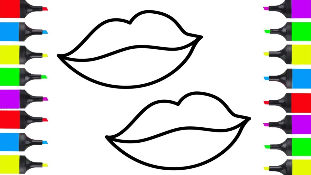 1280x720 How To Draw Lips Easy Coloring For Kids Learn How To Draw Easy