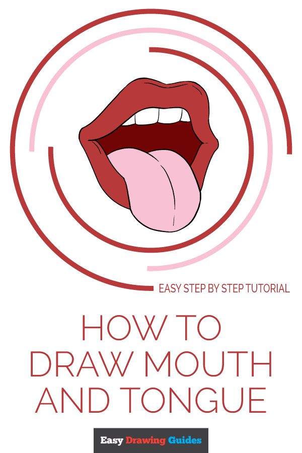600x900 How To Draw A Mouth And Tongue