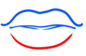 302x198 How To Draw How To Draw Lips For Kids