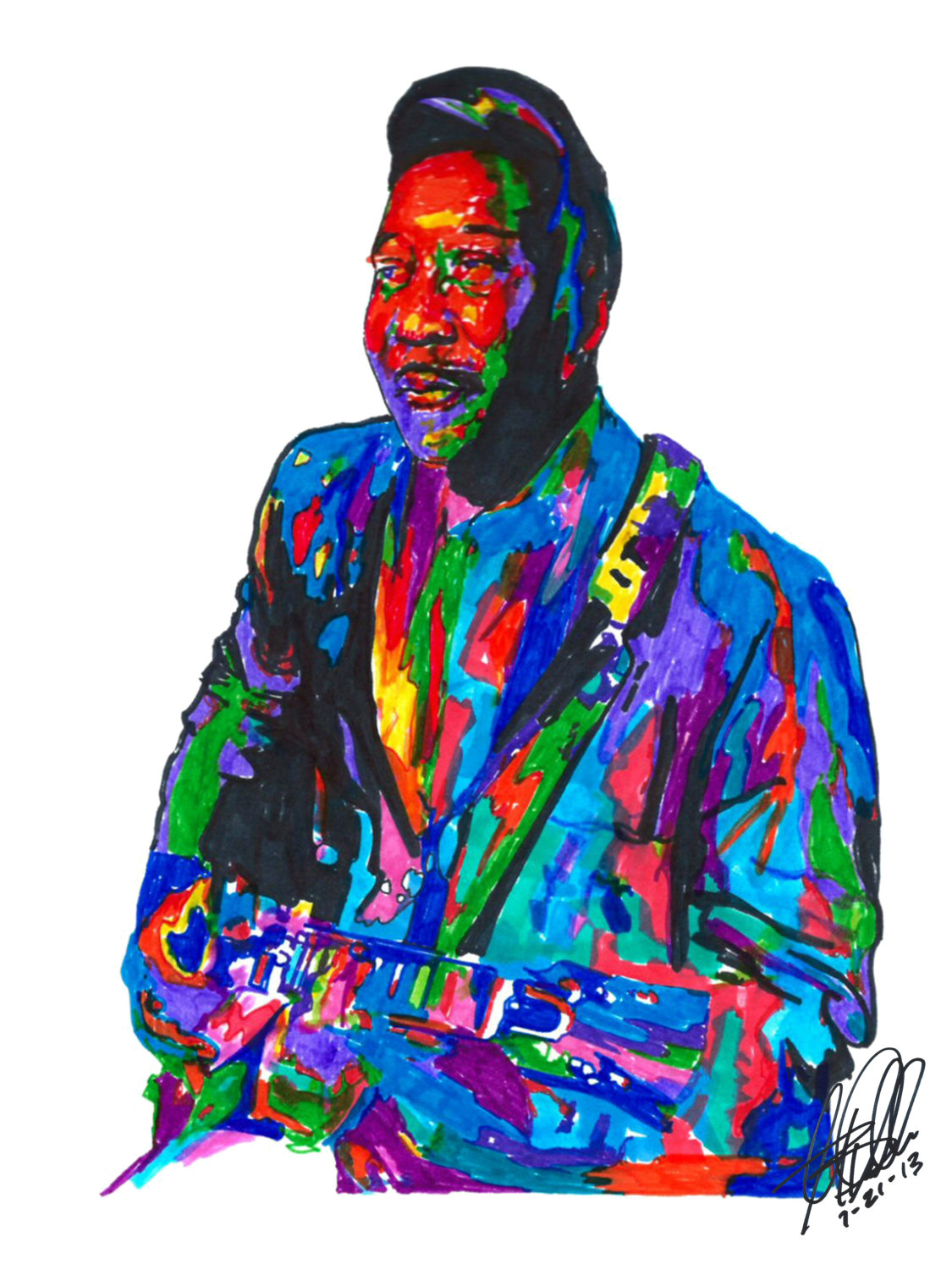 1125x1500 Muddy Waters Poster From Original Drawing X Etsy