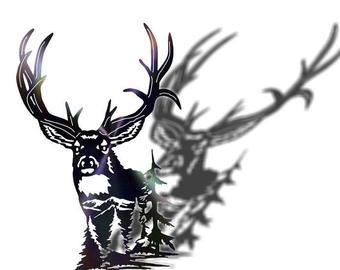 340x270 Drawing Of Mule Deer Etsy