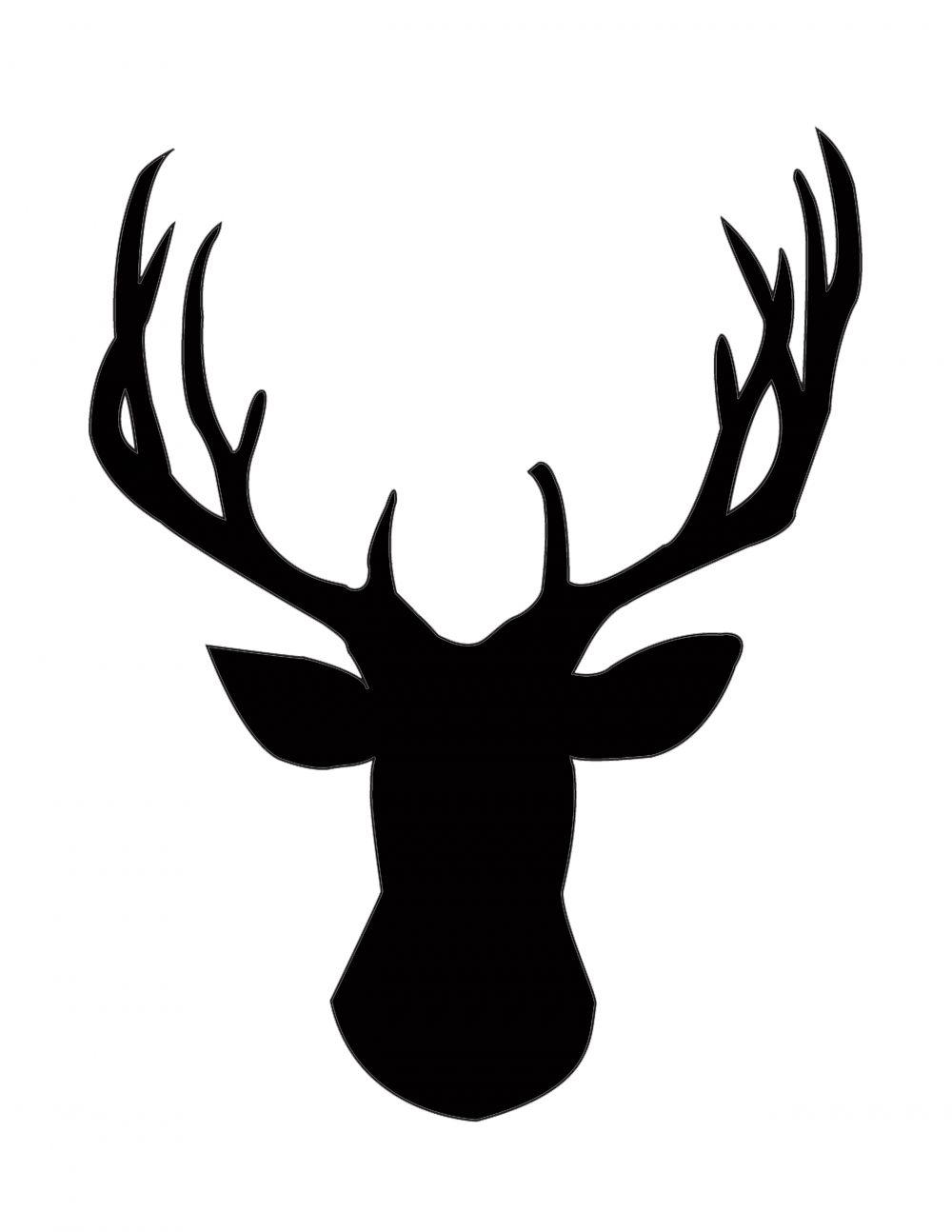 1000x1294 Deer Skull Silhouette Vector