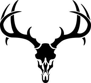300x274 Mule Deer Skull Silhouette
