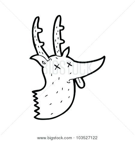 450x470 Simple Deer Drawing Simple Black And White Line Drawing Cartoon