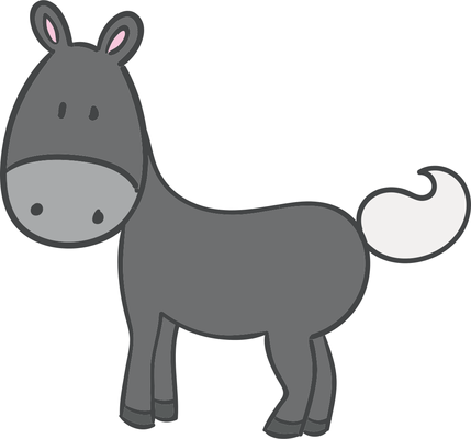429x400 Drawing, Horse, Cartoon, Transparent Png Image Clipart Free Download