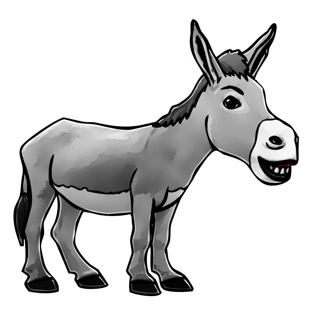1000x1000 Mule Drawing Animated For Free Download