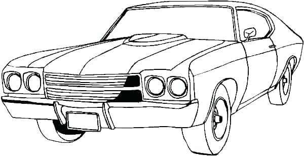 600x308 classic car coloring pages classic cars drawing at free