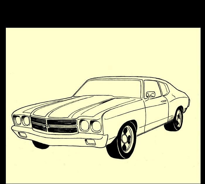 700x630 How To Draw A Muscle Car Chevelle Ss Art Drawingjpg