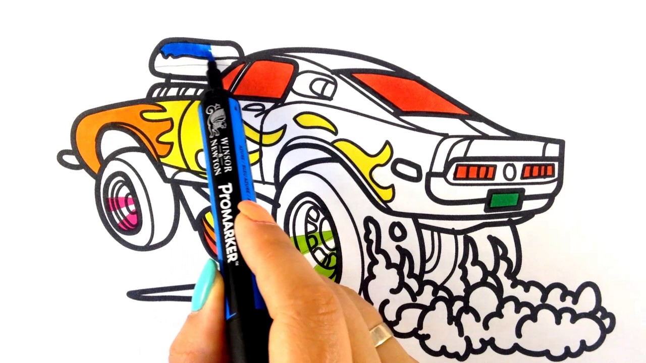 1280x720 How To Draw A Car Ford Mustang Shelby Drag Racing Muscle Car