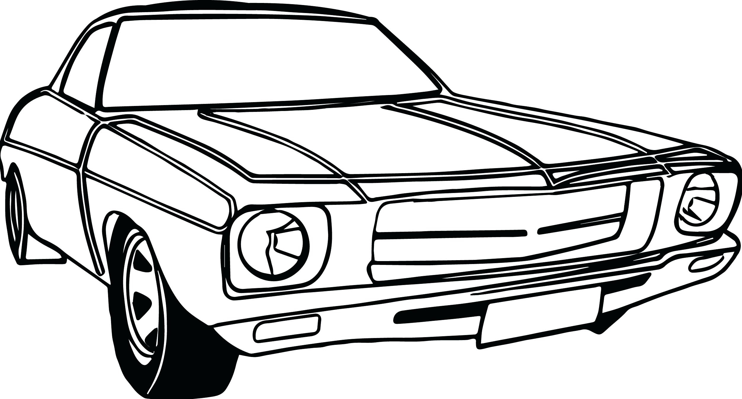 2506x1348 Muscle Draw A Charger Step Car Classic Coloring Pages