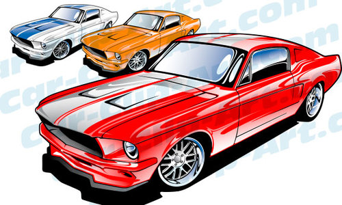 500x300 Photos Muscle Car Clipart Images