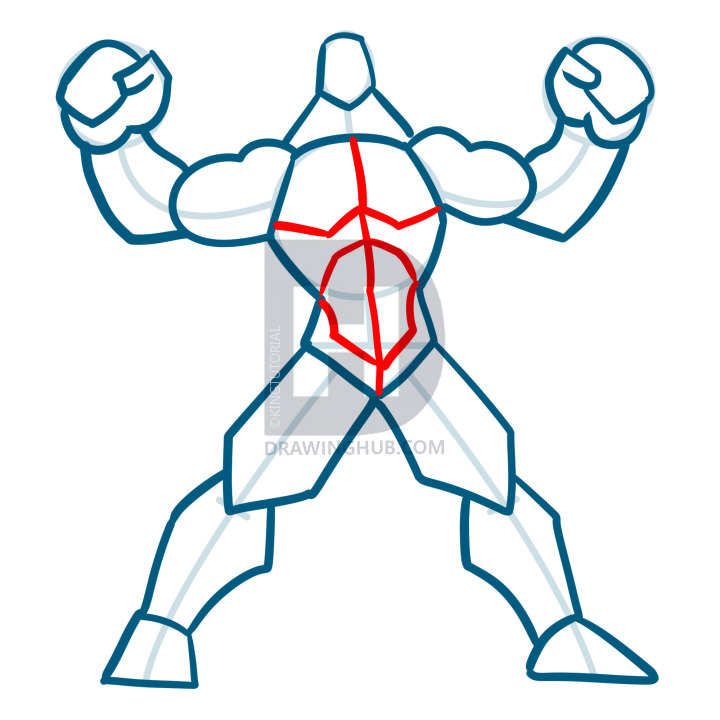 720x720 How To Draw Muscles, Step